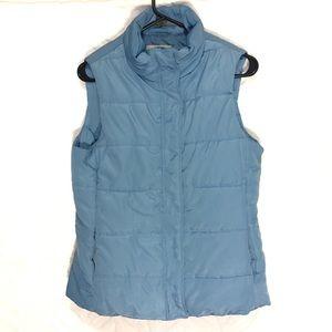 🛍 Talbots Puffer Vest Size Light Blue XSMALL